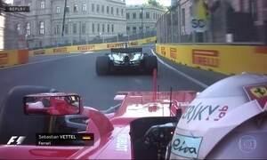 Mundial de F1 no Azerbaijão é marcado por briga entre os líderes Hamilton e Vettel