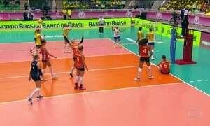 Seleção brasileira feminina de vôlei vence a Holanda no Grand Prix