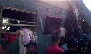 Acidente entre trens no Egito, mata 36 pessoas e deixa 100 feridas