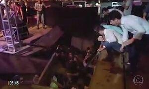 Parte de palco desaba em show do DJ Alok em Presidente Prudente (SP)