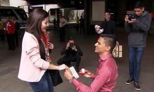 Estudante viaja 12 horas para ver namorado pela primeira vez