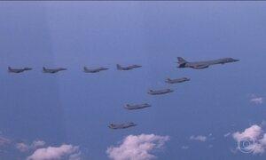 Coreia do Sul e EUA fazem manobras aéreas e terrestres na fronteira norte-coreana