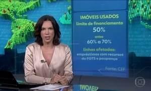 Caixa reduz financiamento de imóveis usados de 70% a 50% do valor