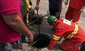 Funcionários da prefeitura de SP começam a concretar o túnel aberto por quadrilha