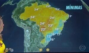 Previsão de chuva no RS e no litoral do NE