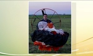 Empresário morre ao cair de voo de paraglider com motor