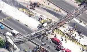 Teve alta no Rio o pedestre que ficou ferido no desabamento de uma passarela