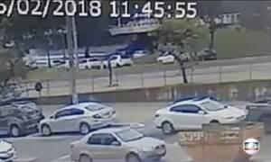 Câmera de segurança registra momento em que viaduto de Brasília caiu