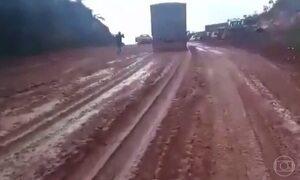 Estrada sem asfalto prejudica exportação da safra de Mato Grosso