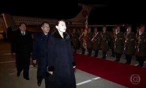 Delegação norte-coreana retorna a Pyong-yang após participação nos Jogos de Inverno