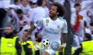 Real Madrid vence o PSG pelas oitavas de final da Liga dos Campeões da Europa