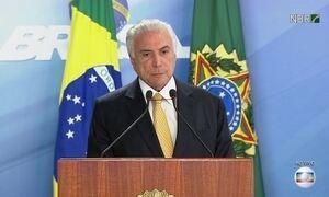 Presidente Michel Temer fala sobre intervenção no Rio de Janeiro