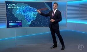 Domingo será de chuva em boa parte do Brasil