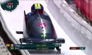 Equipa brasileira fica em 27º lugar no bobsled nas Olimpíadas de Inverno