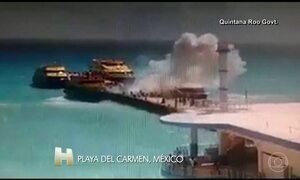 Vinte e cinco pessoas ficaram feridas na explosão de um barco no México