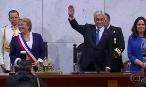No Chile, Sebastian Piñera toma posse como presidente pela segunda vez
