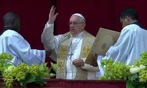 Em mensagem de Páscoa, Papa destaca o sofrimento das pessoas nos conflitos pelo mundo