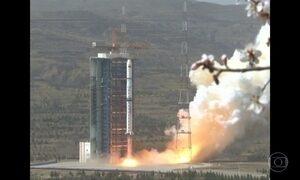 Estação espacial chinesa entra na atmosfera terrestre e cai no Pacífico Sul