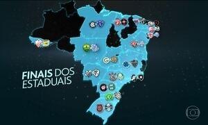 Finais dos Campeonatos Estaduais vão agitar o Brasil no domingo