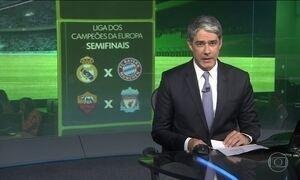 Veja como ficaram os confrontos das semifinais da Liga dos Campeões da Europa