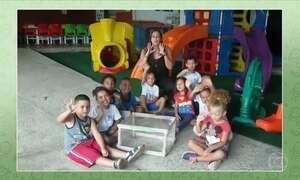 Crianças agradecem resposta do Globo Rural