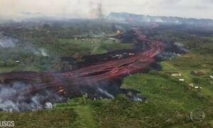 Homem fica gravemente ferido em erupção de vulcão no Havaí