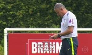 Pela primeira vez, Tite mostra time que deve ser titular em amistoso da Seleção