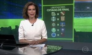 Times brasileiros conhecem os adversários nas oitavas de final da Libertadores