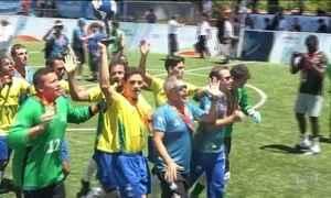 Brasil campeão do mundo de futebol de 5, para deficientes visuais