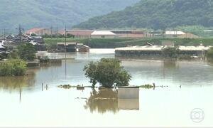 Chuvas no Japão deixam 124 mortos