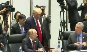 Donald Trump está em Helsinque, na Finlândia, para encontro com Vladimir Putin