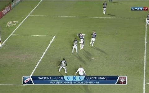 Corinthians segura empate sem gols com o Nacional e aposta na arena para avançar