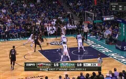 Heat leva a série contra os  Hornets para o jogo 7: 97 a  90