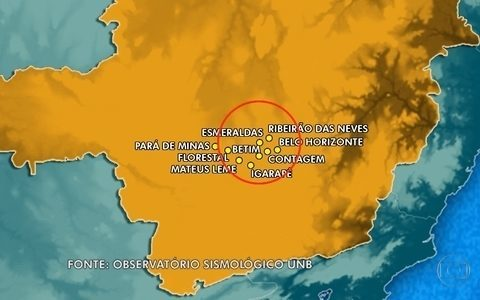 UnB registra tremor de terra na Região Metropolitana de BH