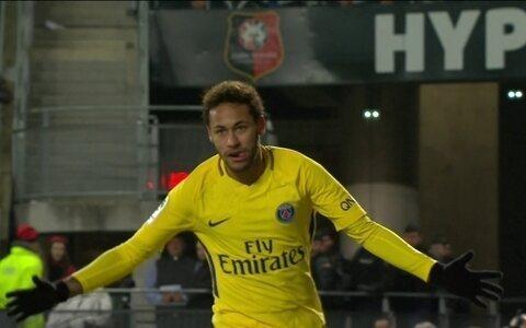 Com dois de Neymar,  PSG goleia o Rennes