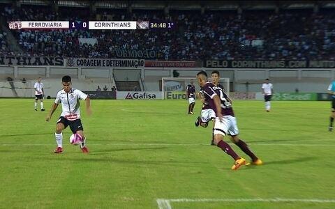 Corinthians e Ferroviária ficam no empate em 1 a 1 na Copinha