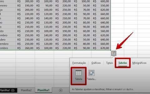 Como personalizar uma planilha do Excel