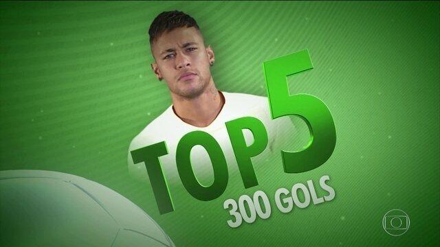 Confira os cinco gols mais bonitos da carreira de Neymar pelo Santos