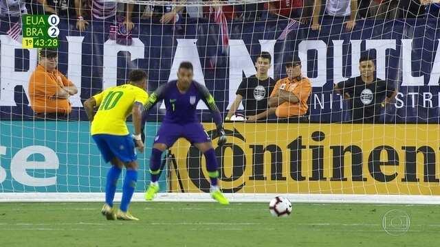 Melhores momentos: Estados Unidos 0 x 2 Brasil em amistoso internacional