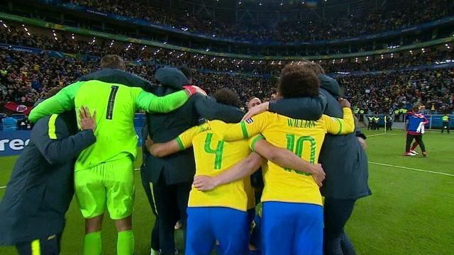 Os pênaltis de Brasil 0 (4) x (3) 0 Paraguai pelas quartas de final da Copa América