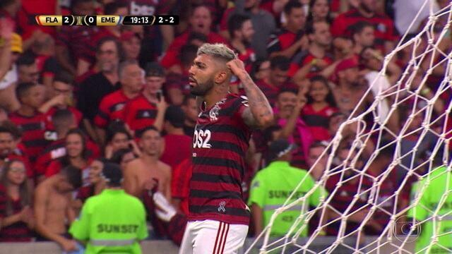 Melhores momentos de Flamengo 2 (4) x (2) 0 Emelec pela Taça Libertadores
