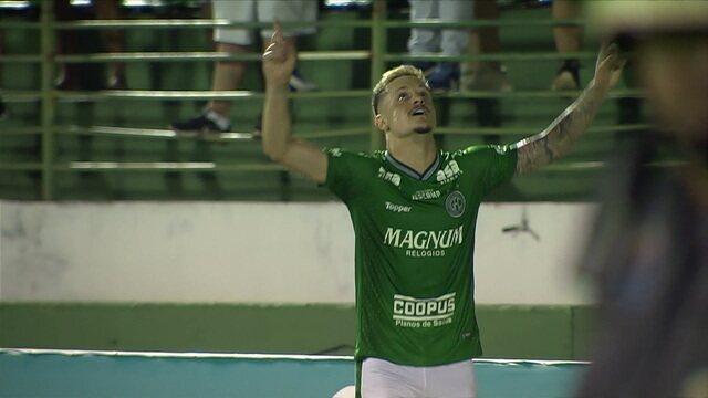 O gol Guarani 1 x 0 CRB pela 28ª rodada da série B do Brasileirão