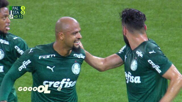 Melhores momentos: Palmeiras 2 x 0 Santo André pelas quartas do Paulistão 2020