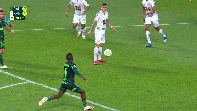 Melhores momentos: Palmeiras 2 x 1 Santos pela 5ª rodada do Brasileirão