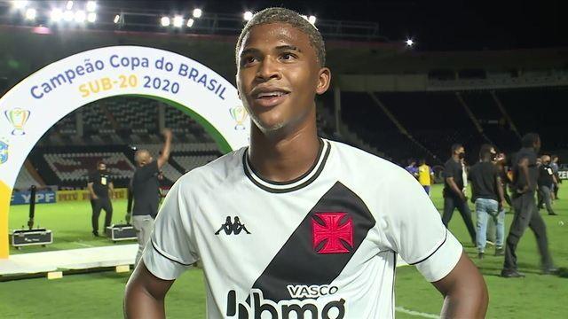 Caio Eduardo fala sobre o gol que deu o título da Copa do Brasil Sub-20 ao Vasco