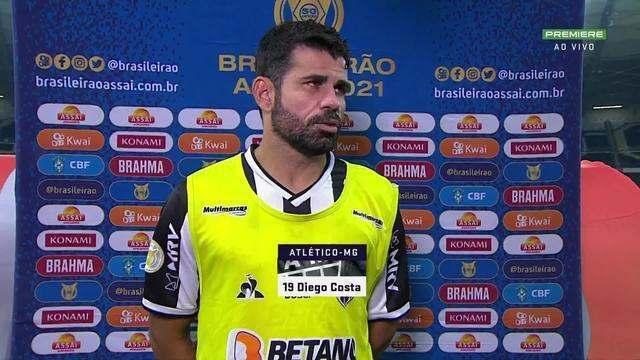 """Diego Costa comenta gol na estreia como titular na vitória contra o Sport: """"O caminho é esse"""""""