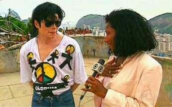 Túnel do Tempo: reveja o encontro de Glória Maria e Michael Jackson - Quando esteve no Brasil, cantor foi entrevistado pela jornalista.