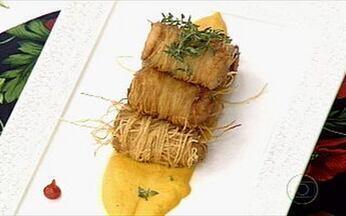 Pra começar bem a semana - Delicioso peixe no macarrão de batata
