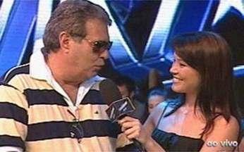 Geovanna Tominaga confere os bastidores do Show da Virada 2010 - Gravações acontecem nesta quarta-feira, em São Paulo.