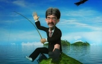 Ministro Luiz Sérgio volta a filosofar durante a pesca - Para o ministro da Pesca, sempre há uma porta aberta para um ou outro pé descalçado. E bota descalçado nisso!